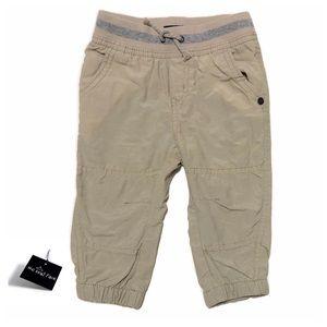 Like New Khaki Sweat Pants with Pockets Boy 12mo